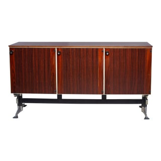 Mid Century Rosewood Three-Door Cabinet or Credenza For Sale
