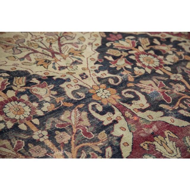 "Early 19th Century Unusual Antique Lavar Kerman Carpet - 8'6"" X 11'10"" For Sale - Image 5 of 10"