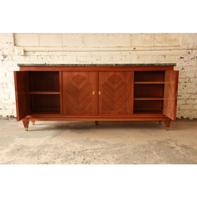 1940's French Mahogany & Marble Sideboard For Sale In South Bend - Image 6 of 11
