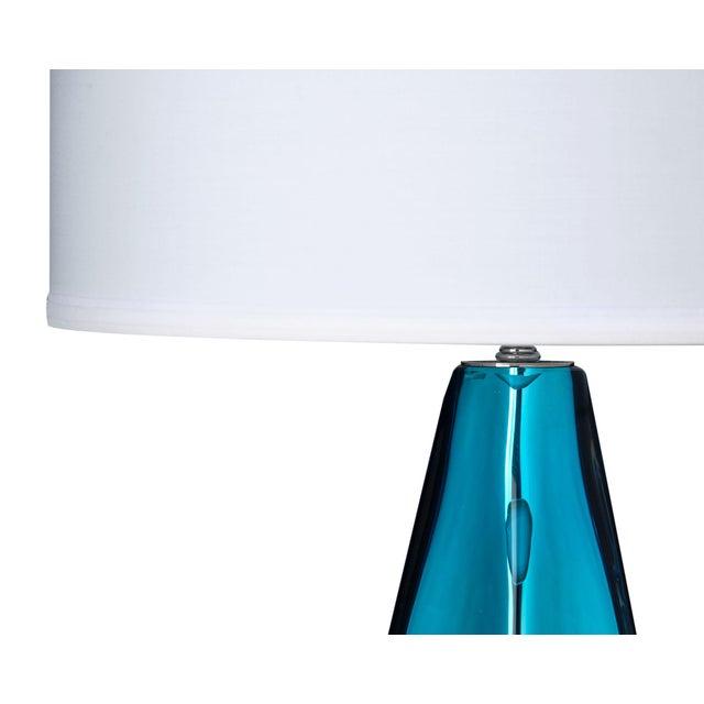 """Italian Blue """"Specchiate"""" Murano Glass Lamps For Sale - Image 3 of 10"""