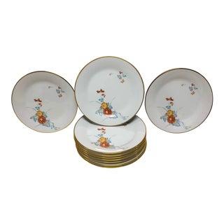1960s Noritake Ming Oriental Chrysanthemum Pattern Salad Plates - Set of 10 For Sale