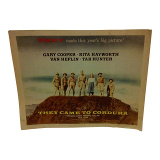 "Vintage Movie Poster ""They Came to Cordura"" Gary Cooper Rita Hayworth & Tab Hunter - 1959 For Sale"