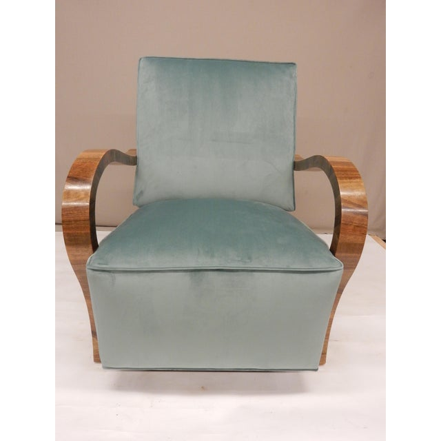 1930s Pair of 1930's Upholstered Arm Chairs. For Sale - Image 5 of 7