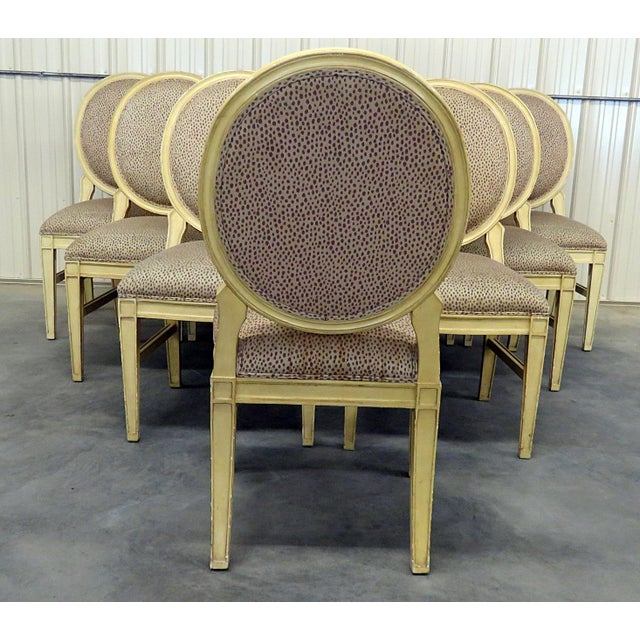 Louis XIV Set of 10 Louis XIV Style Dining Side Chairs For Sale - Image 3 of 13