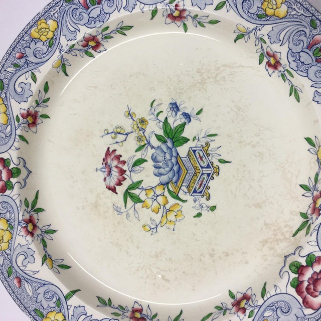 Minton Antique 1860s Minton & Co. Transfer Ware Plate For Sale - Image 4 of 7