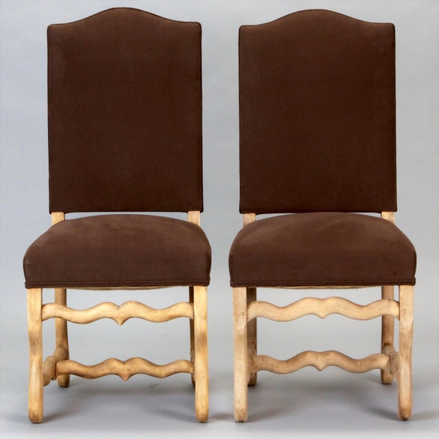 Wood Set of 6 Bleached Oak Wood Os Du Mouton Dining Chairs For Sale - Image 7 of 8