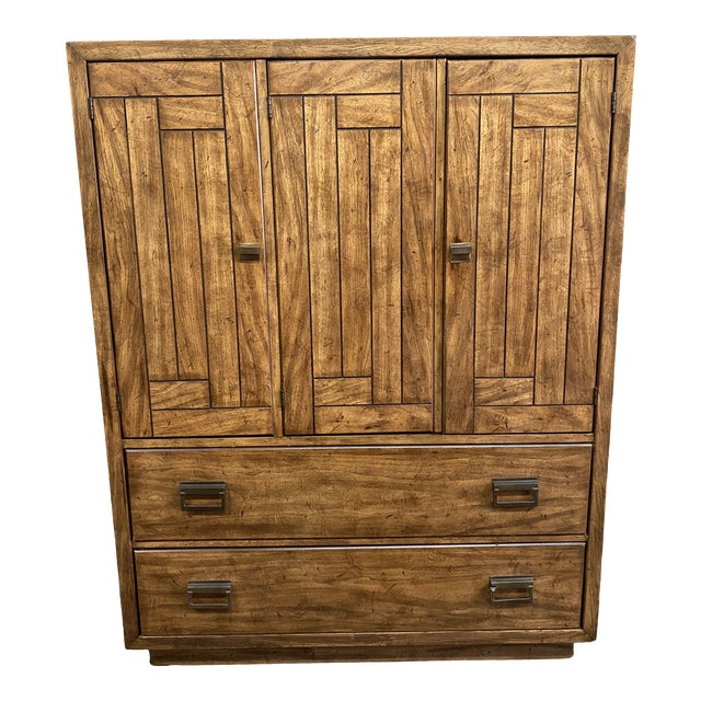 1970's Drexel Heritage Woodbriar Collection Campaign Chest For Sale