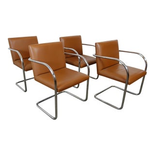Mid Century Modern Brno Knoll Armchairs- Set of 4 For Sale