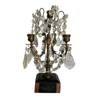 Early 20th Century Neoclassical Crystal Candelabra For Sale