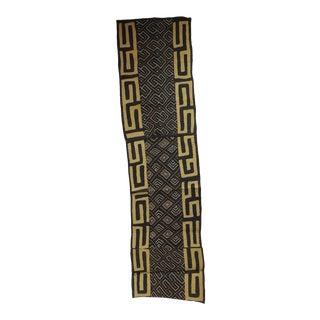 Vintage Yellow and Black African Applique Kuba Applique Textile For Sale