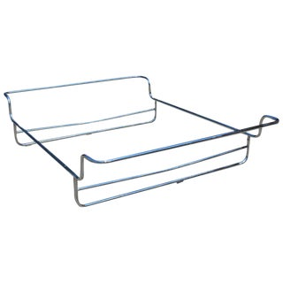 1970s Minimalist Chrome Queen Bed Frame