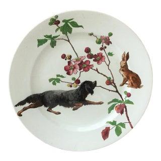1890 English Hunt Scene Doulton Burslem Plate For Sale