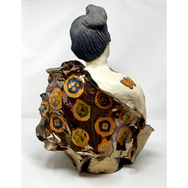 Late 20th Century Late 20th Century Theo Samuels Japanese Woman Sculpture For Sale - Image 5 of 13