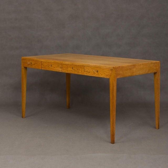 Mid-Century Modern Severin Hansen Oak Writing Desk For Sale In New York - Image 6 of 12