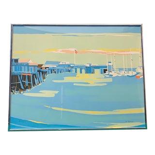 1970s Vintage Pierre Roux Monterey Lithograph Print For Sale
