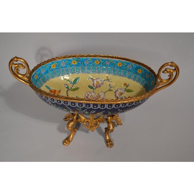 Antique French Majolica Longwy Pottery Jardiniere circa 1890-1900