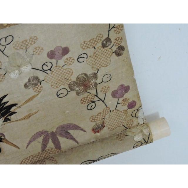 Green Antique 19th C. Japanese Scroll Painting - Edo Period Kakejiku For Sale - Image 8 of 8