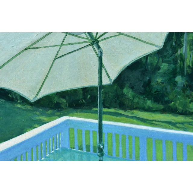 """Canvas Contemporary Painting, """"Summer on the Back Deck"""", by Stephen Remick For Sale - Image 7 of 13"""