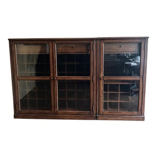Traditional Pottery Barn Saxton Modular Bar Cabinet For Sale