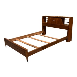 1960s Mid-Century Modern Lane Acclaim Full Size Bed- 6 Pieces For Sale