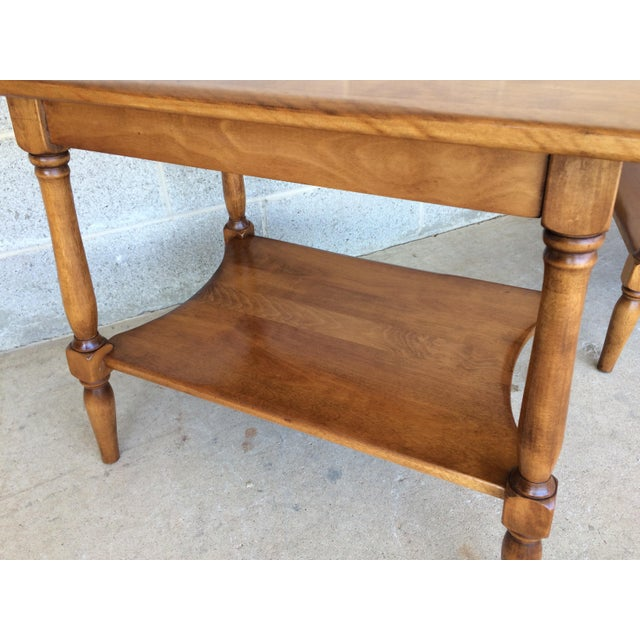 Wood Cushman Colonial Maple End Tables - A Pair For Sale - Image 7 of 10