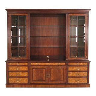 Henkel Harris Hhbc95 Large Mahogany Credenza Bookcase