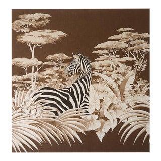 1970s Zebra Safari Jungle Fabric Art Wall Hanging For Sale