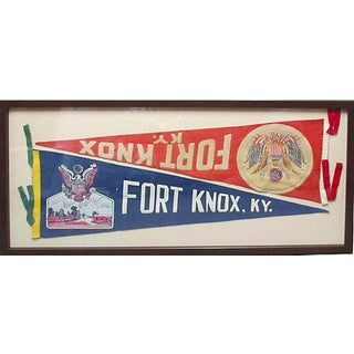 Framed 1940s Fort Knox Banners For Sale