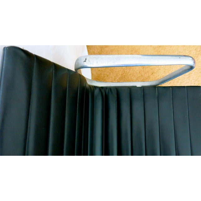 Metal Eames-Herman Miller Aluminum Leather Group Management Chair For Sale - Image 7 of 13