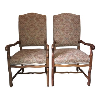 Two (2) Ralph Lauren Michelle Upholstered Arm Chairs For Sale