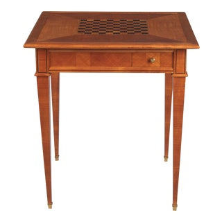 1940s French Louis XVI Style Cherrywood Game Table For Sale