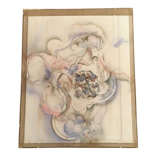 Mixed Media in Lucite 'Unveiled' Signed For Sale