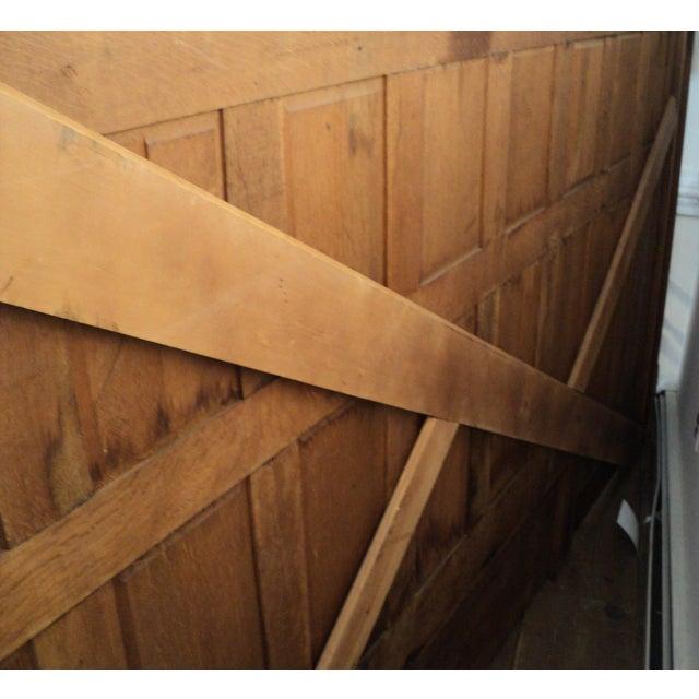 Vintage Sawn Oak Bench - Image 10 of 11