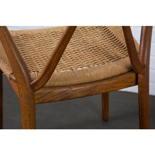 Teak Henning Kjærnulf for Bruno Hansen Model 255 Teak Chairs - A Pair For Sale - Image 7 of 13