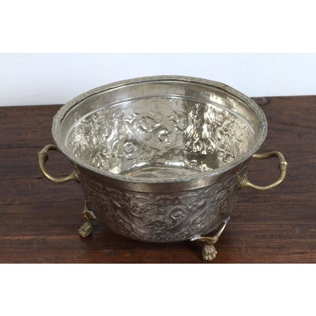 Moroccan Silver Dish Tajine With Cover For Sale - Image 4 of 8