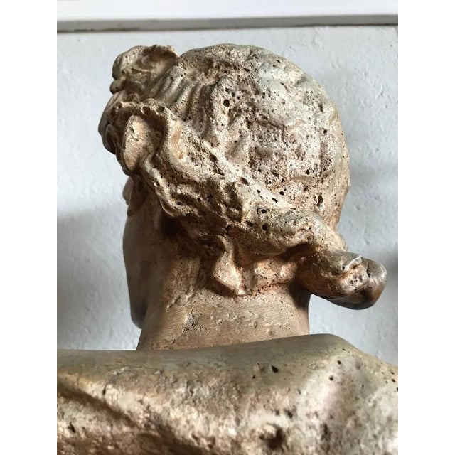 1930s Antique Neoclassical Bust of a Greek God For Sale - Image 5 of 7