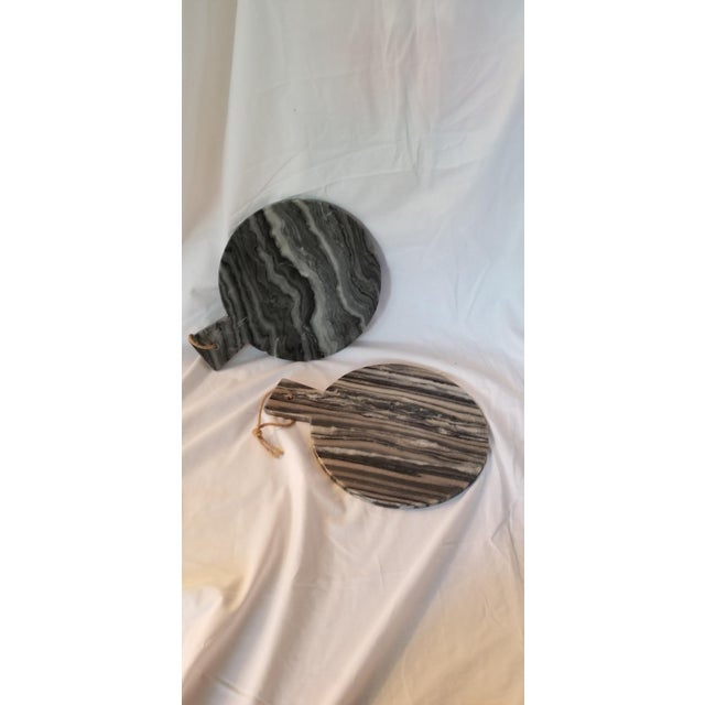 Art Deco Black Marble Cheese Board For Sale - Image 3 of 6