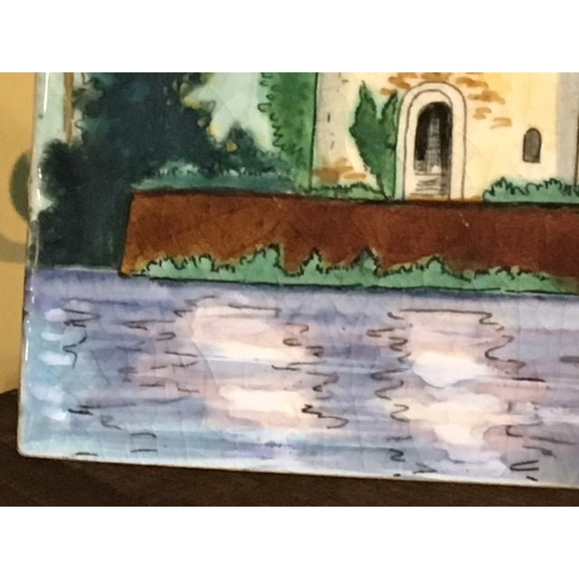 Longwy French Hand Painted & Signed Tile For Sale - Image 9 of 13