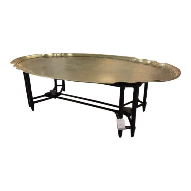Baker Brass Tray Top Coffee Table For Sale