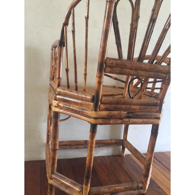 Vintage Bamboo Chinoiserie Accent Chair For Sale - Image 10 of 11