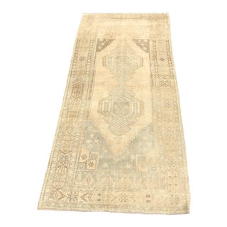 "1930s Art Deco Turkish Oushak Wide Wool Runner - 5'4""x11'4"""