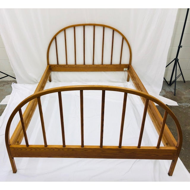 Mid 20th Century Vintage Mid Century Modern Danish Style Wooden Bed For Sale - Image 5 of 13