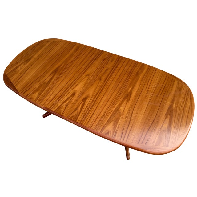 Mid-Century Expandable Teak Dining Table - Image 1 of 11