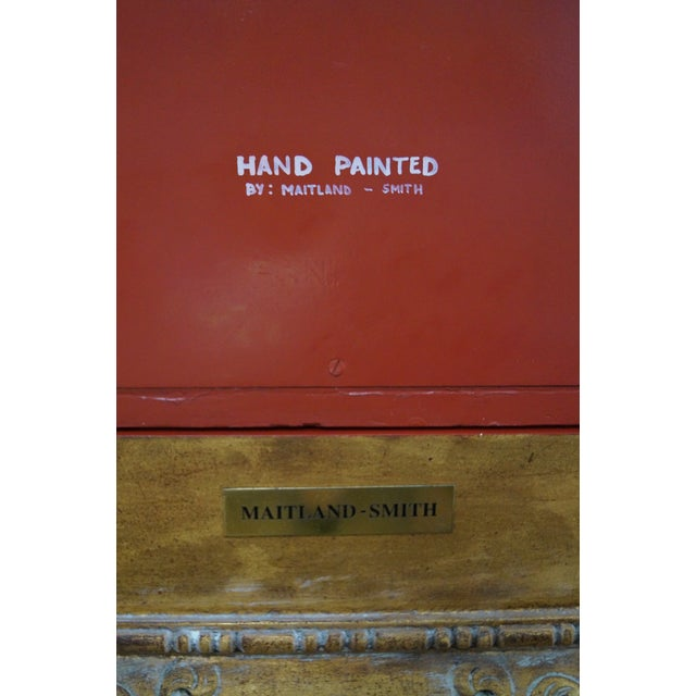 Maitland Smith Hand-Painted Chinoiserie Cabinet For Sale - Image 9 of 10