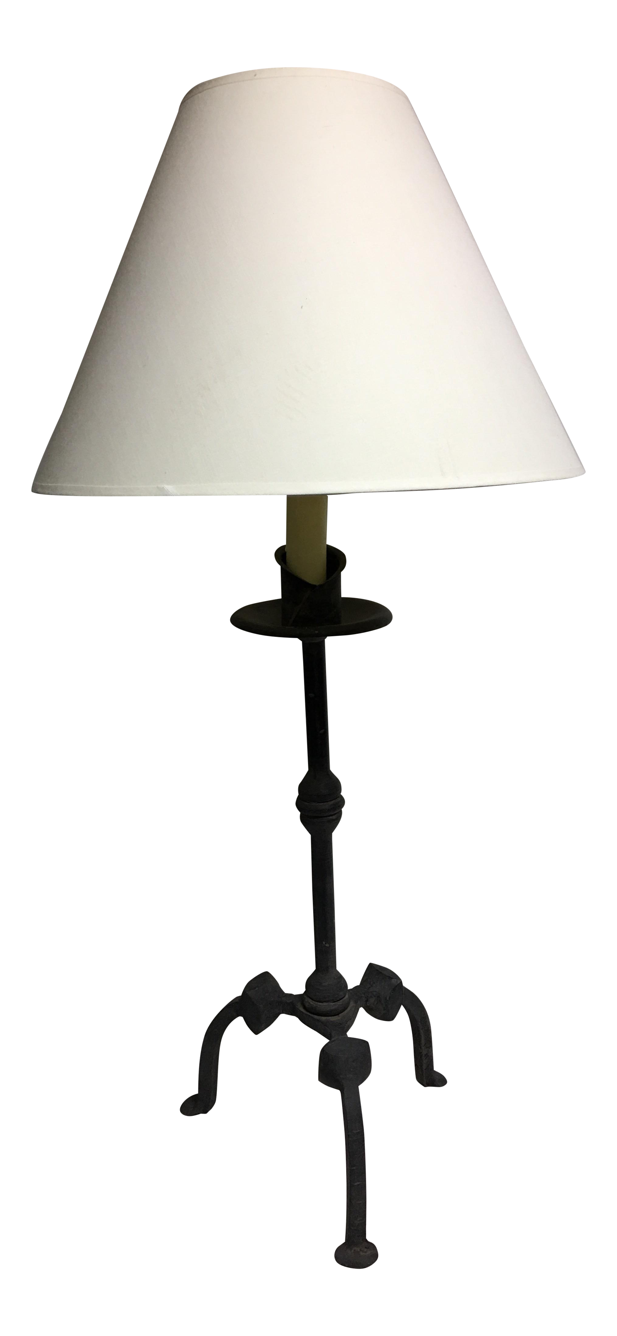 Vintage Hand Wrought Iron Table Lamp