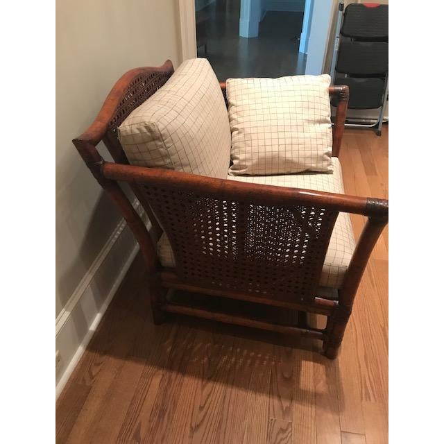 Bamboo Ficks Reed Wicker Chair For Sale - Image 7 of 10