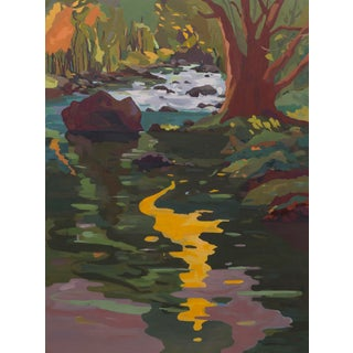 """Sound of Water"" Original Northern California Landscape Oil Painting by Jenny Wantuch For Sale"