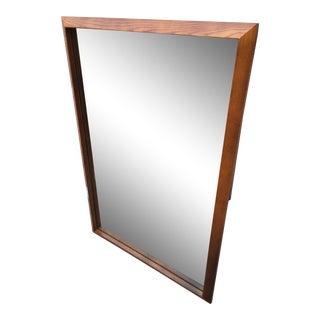 Mid-Century Modern Drexel Heritage Style Oak Wall Mirror For Sale