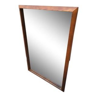 Mid-Century Modern Large Oak Wall Mirror For Sale