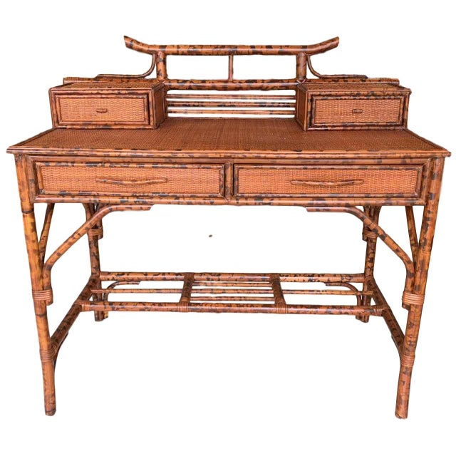 Japanoise Bloomingdale's Bamboo Writing Desk For Sale - Image 11 of 11